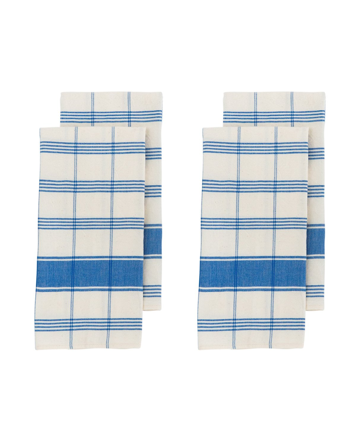 Blue Plaid Napkins Set