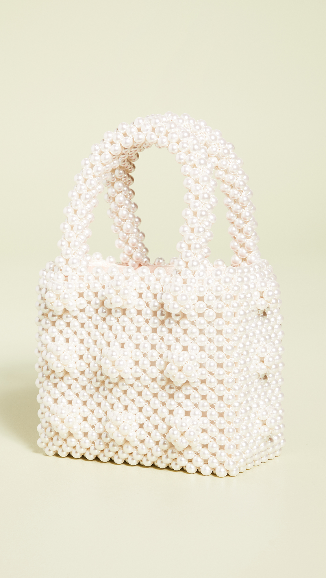 Cream Imitation Pearl Bag