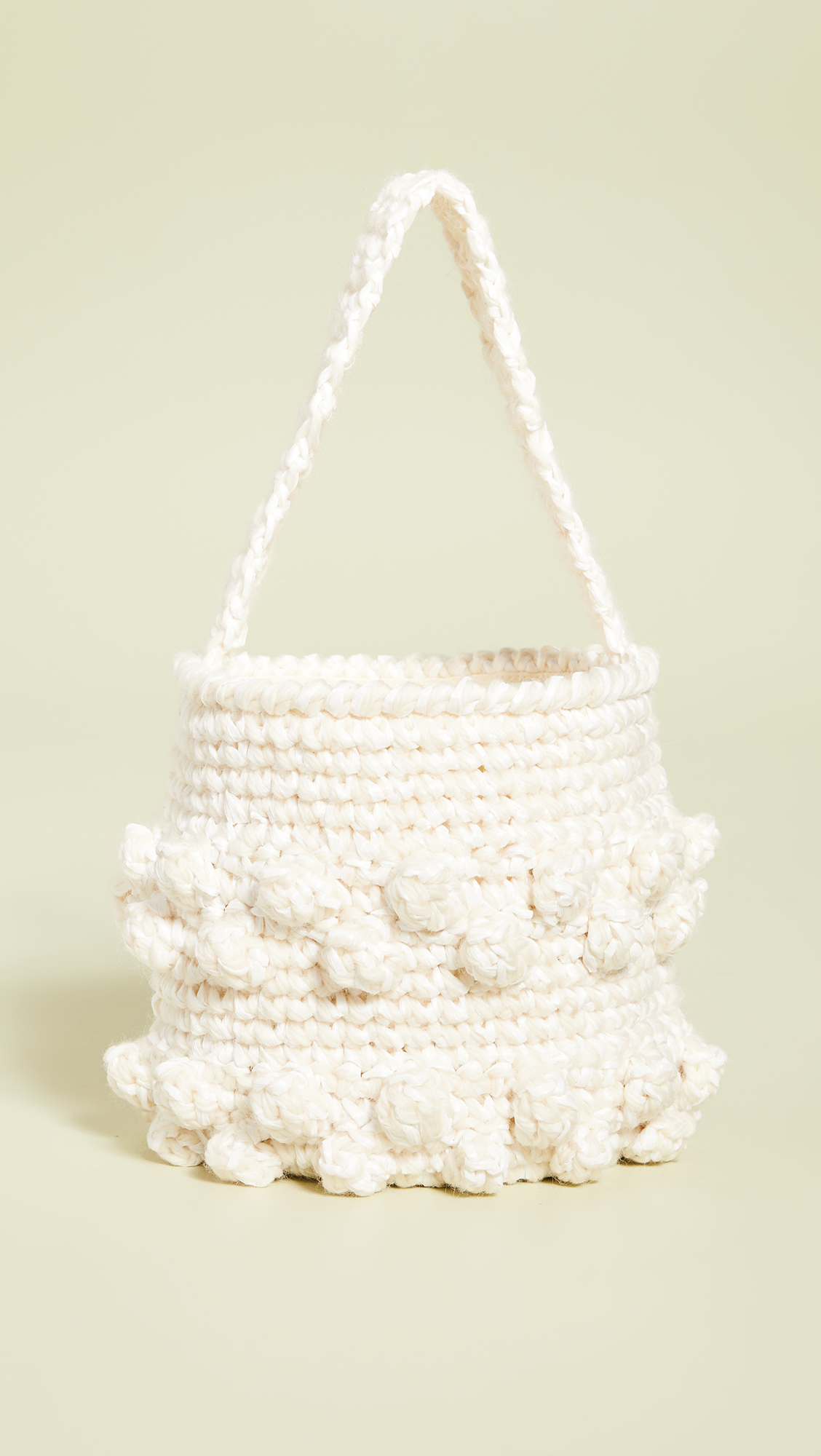 Crochet Pom-Pom Bucket Bag