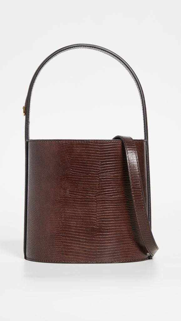 Dark Brown Mini Bucket Bag