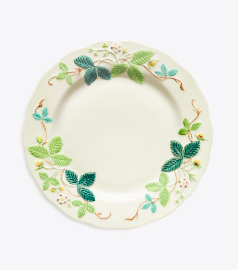 Embossed Flower Salad Plate