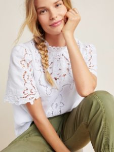 The Daily Hunt: White Eyelet Blouse and More!