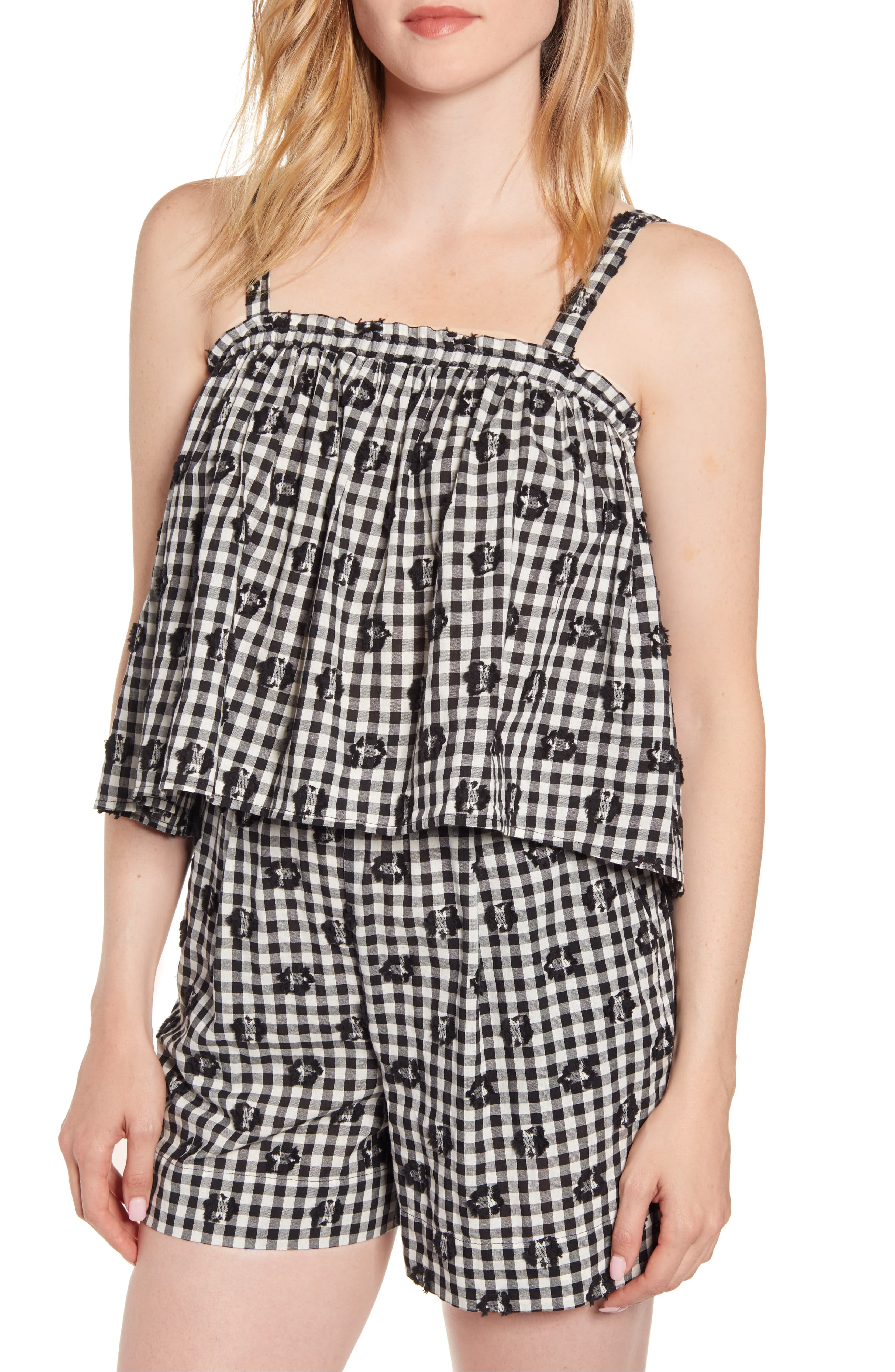Gingham Camiole and Gingham Shorts