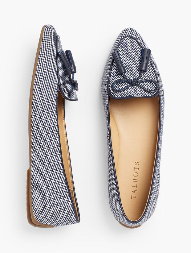 Houndstooth Pattern Moccasins