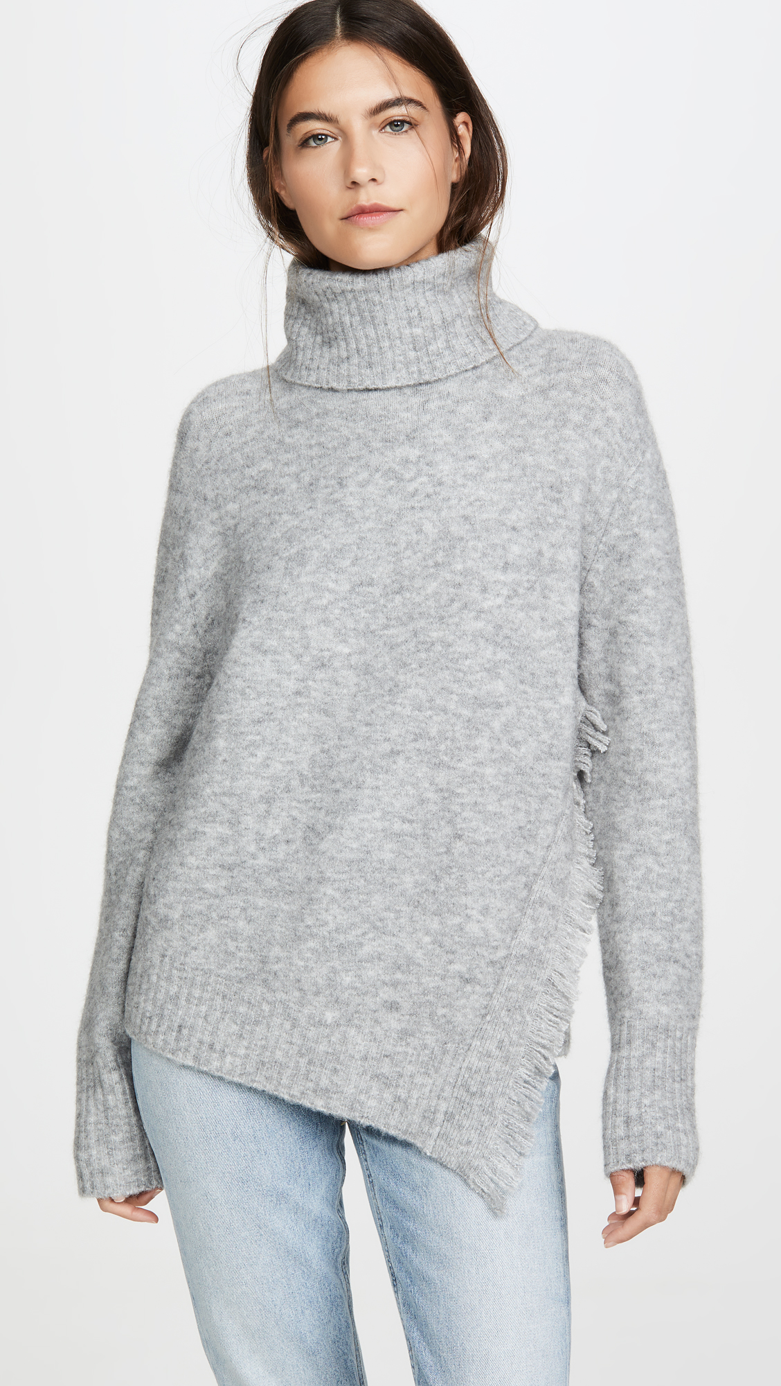 Side Fringe Turtleneck Sweater