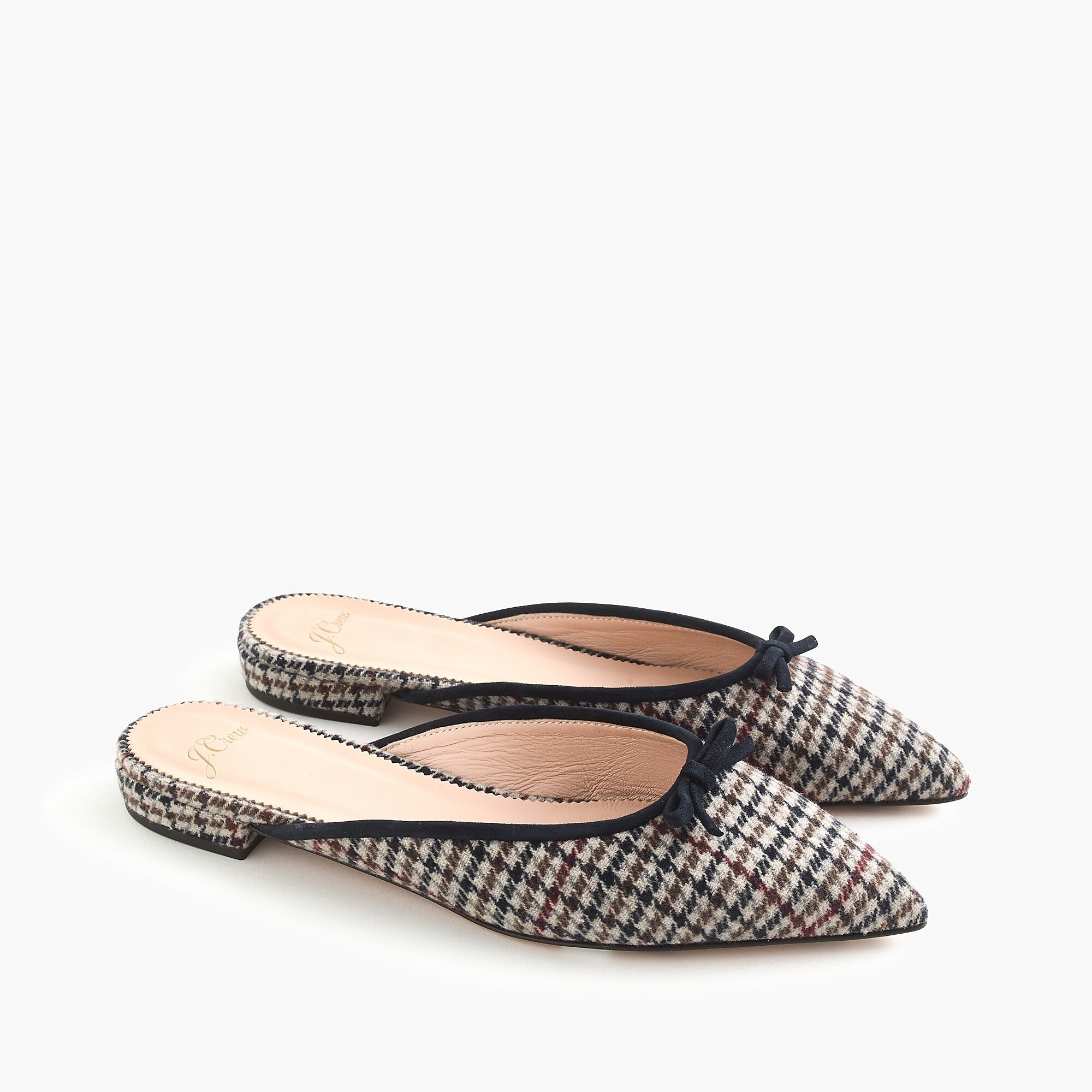 Plaid Pointed Toe Flat