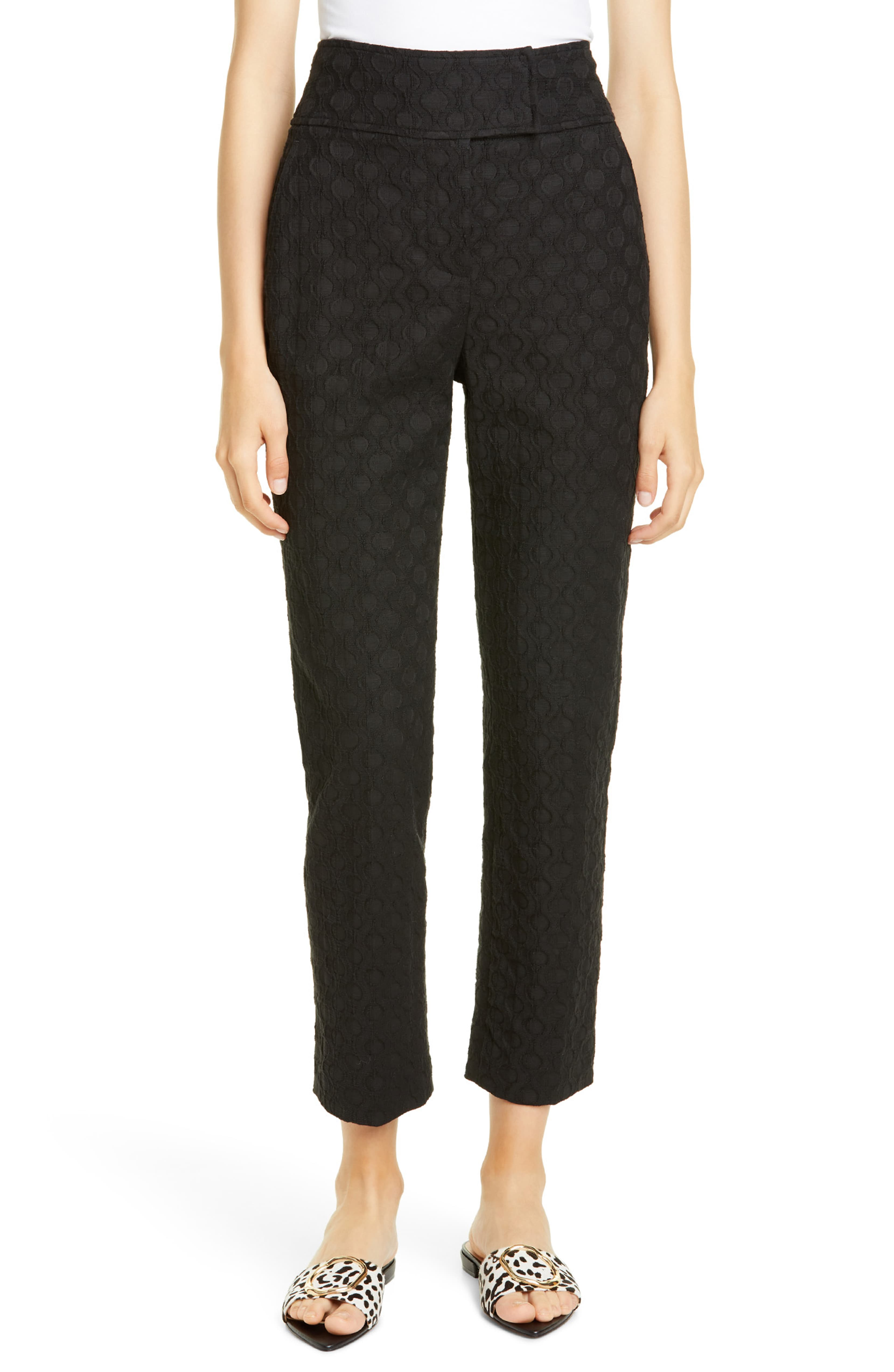 High Waist Jacquard Pants