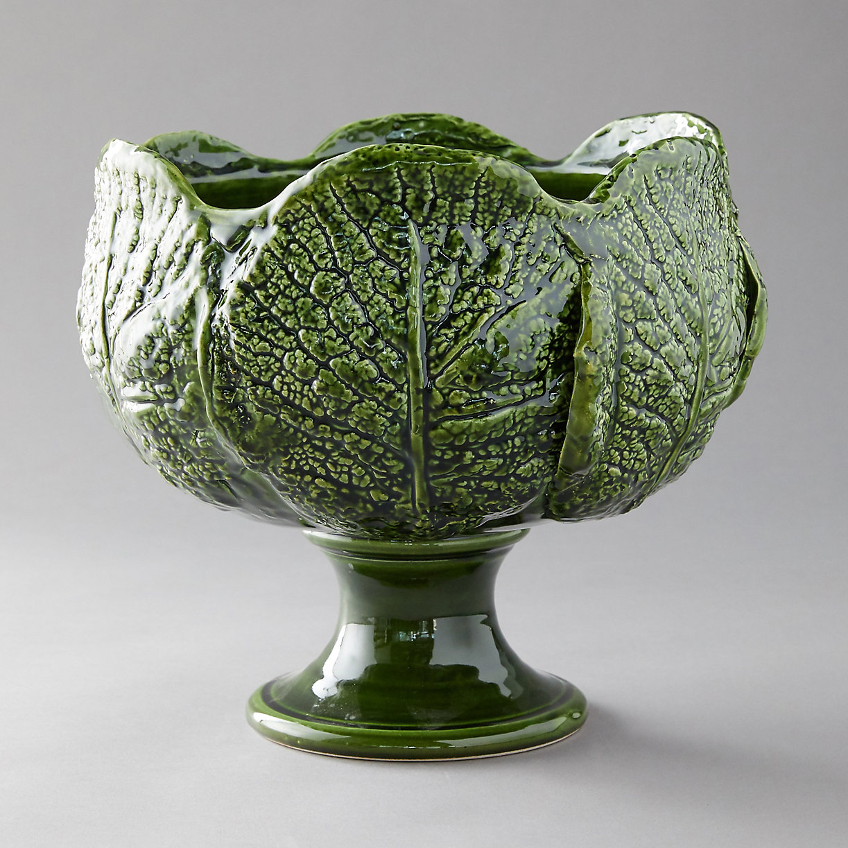 Kale Leaf Serving Bowl