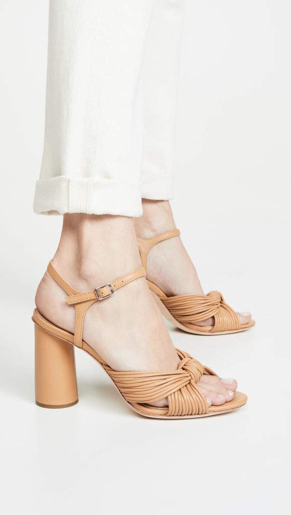 Tan Knotted Heel