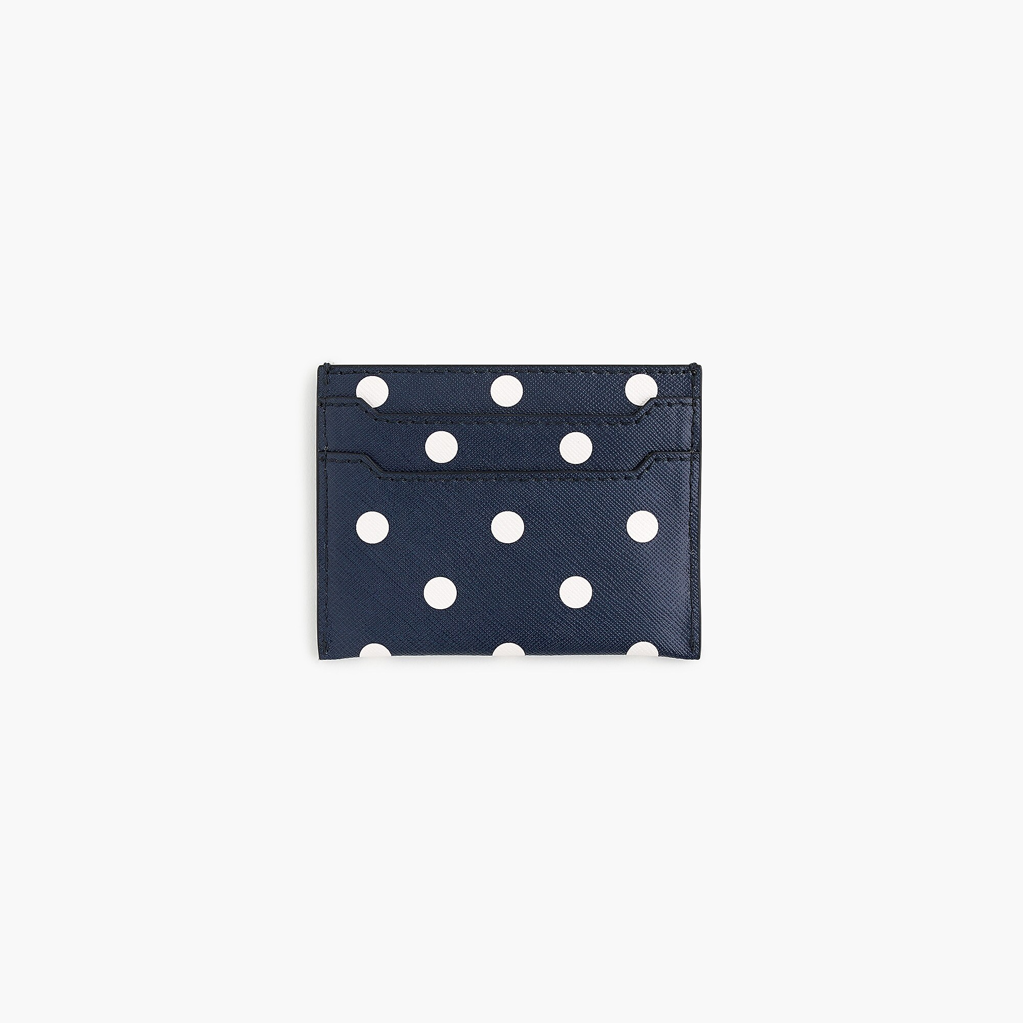 Polka Dot Leather Card Case