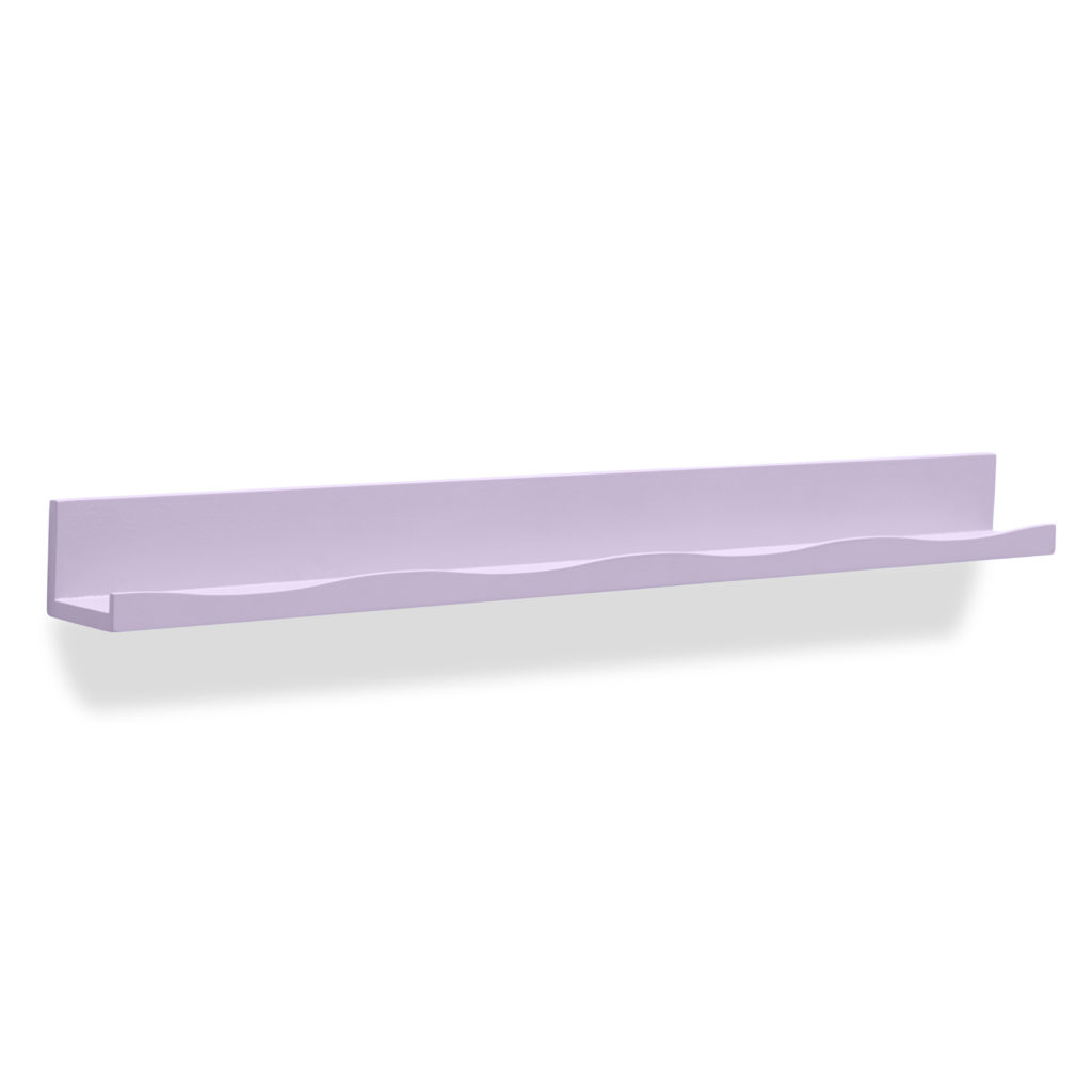 Lilac Wave Ledge Shelf Wall Bookcase Nursery Decor