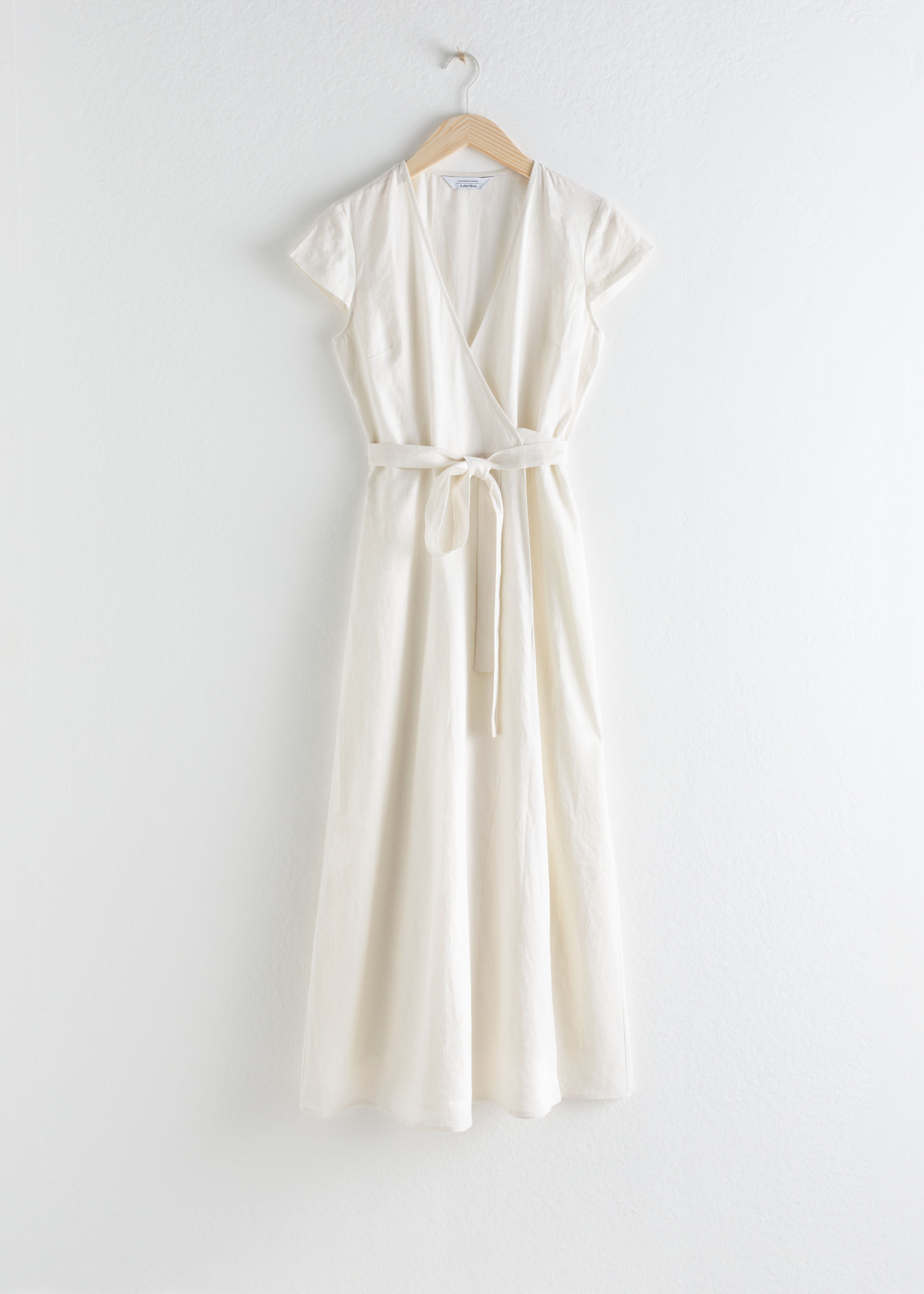 White Midi Wrap Dress