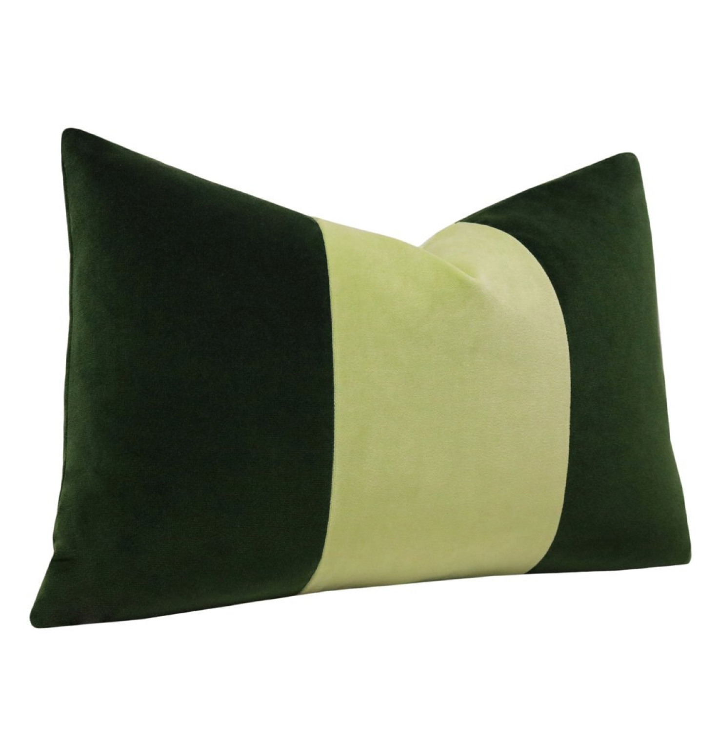Velvet Block Color Pillow