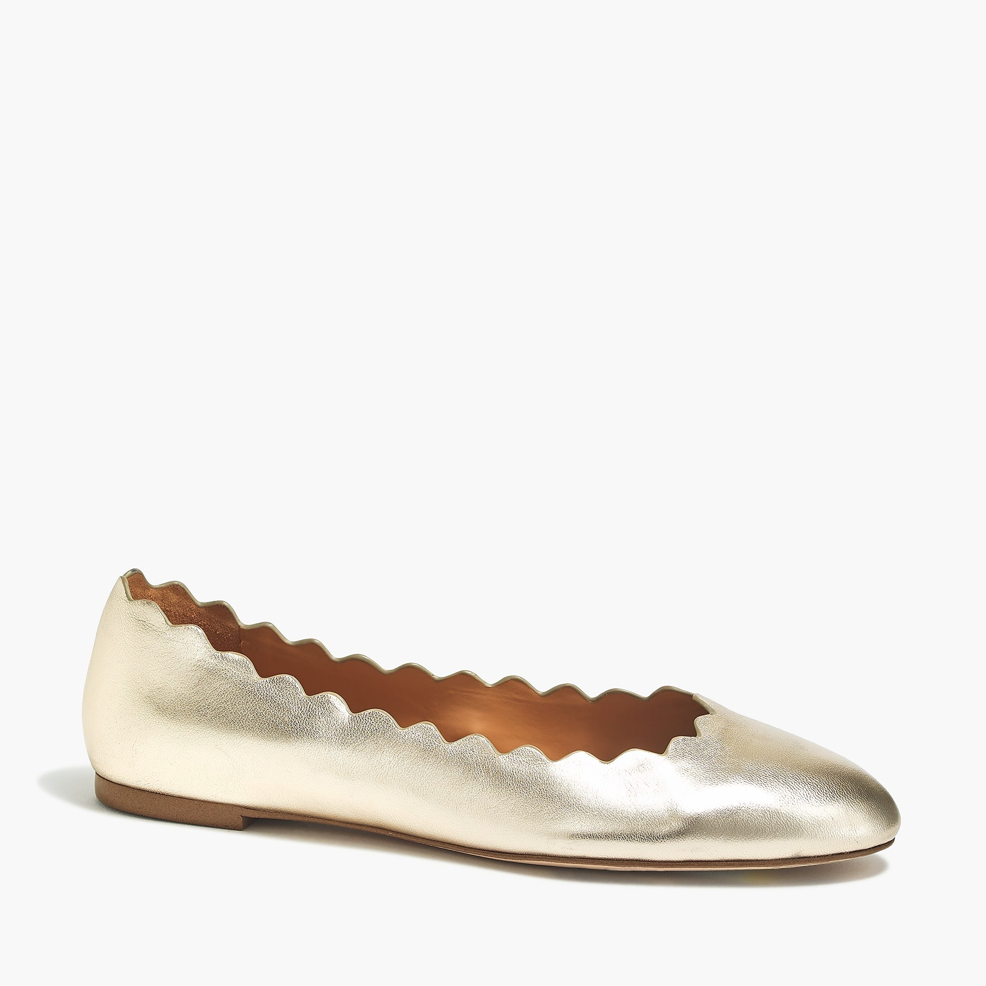 Metallic Scalloped Edge Flats