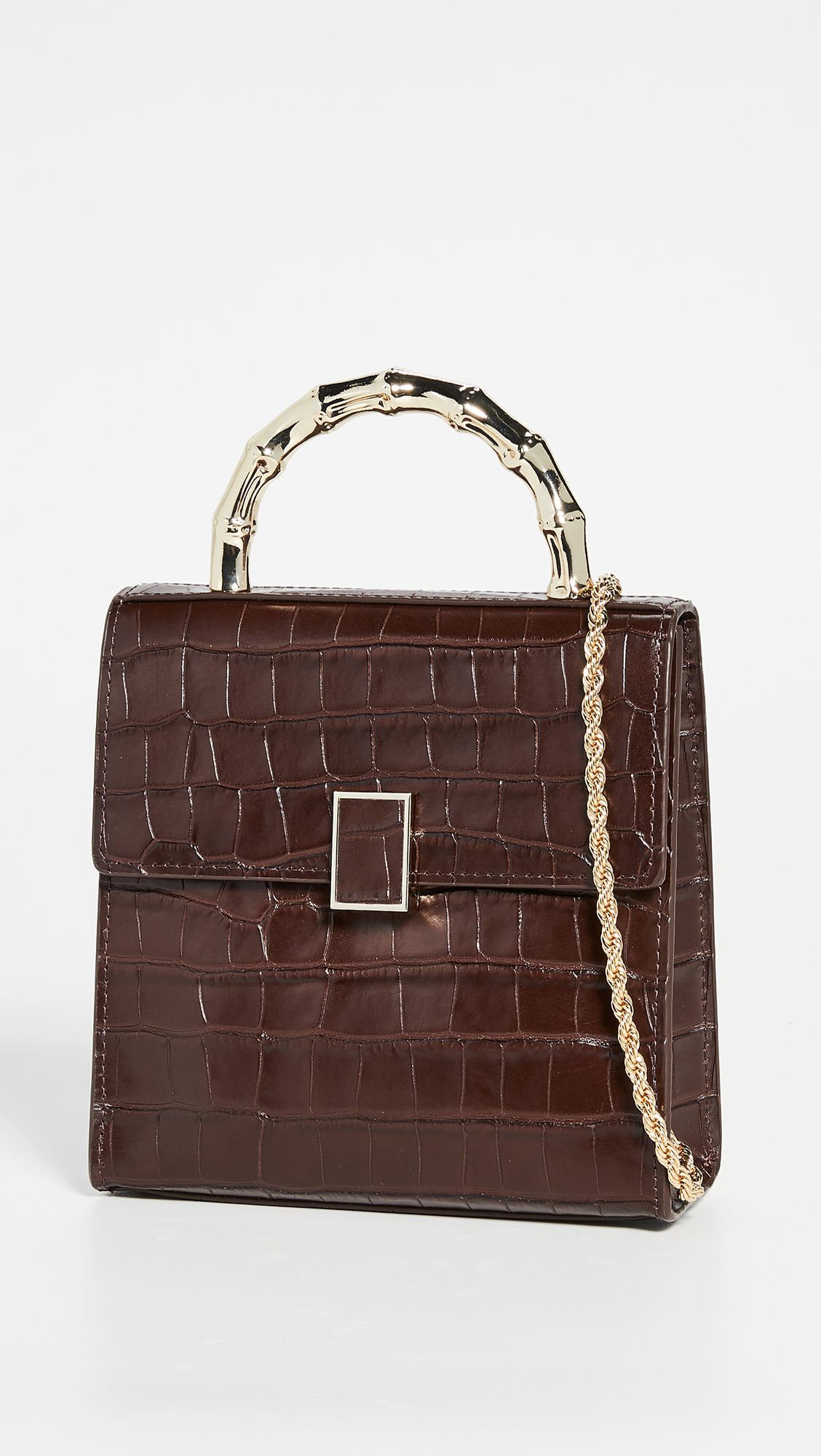 Mini Square Croc Embossed Bag