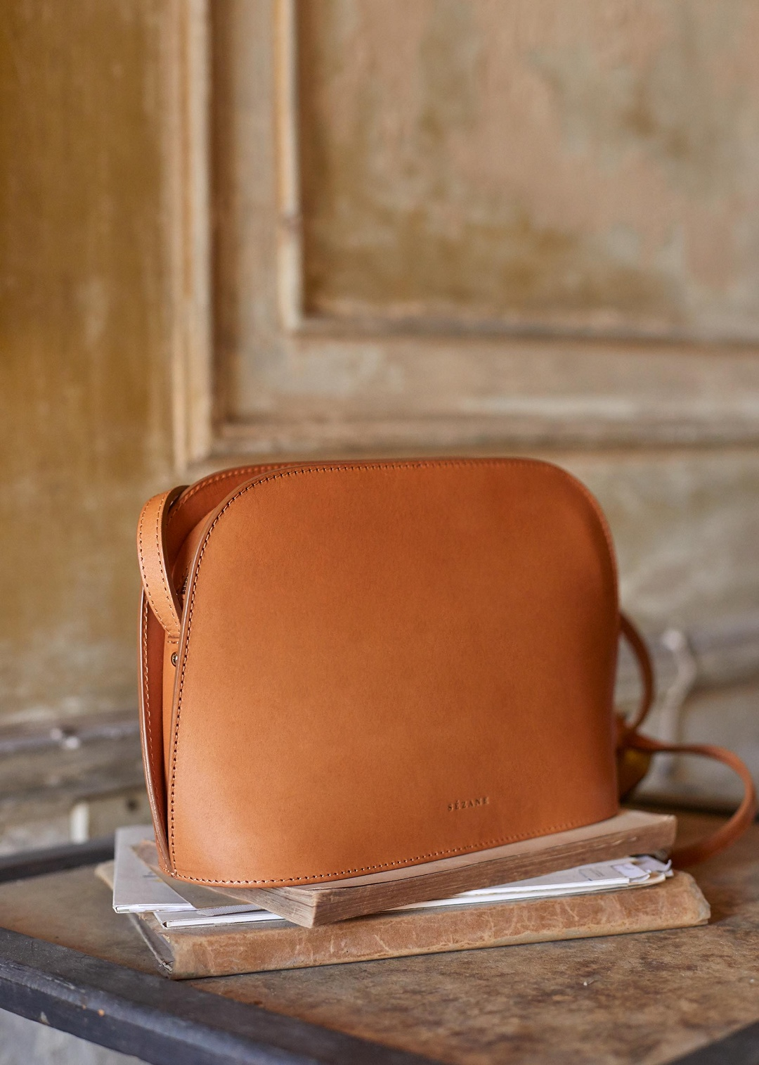Over the Shoulder Leather Purse
