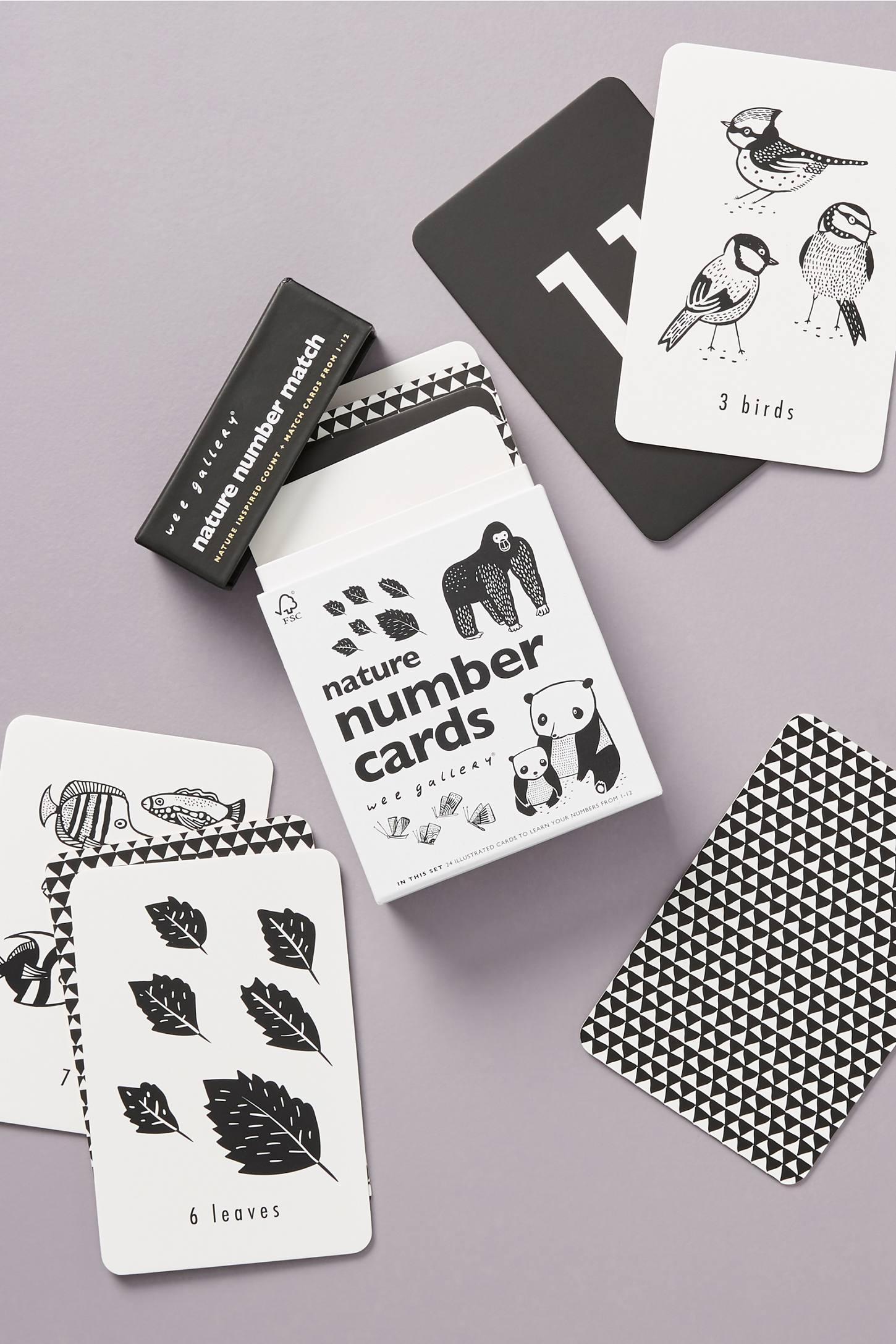 Nature and Number Cards