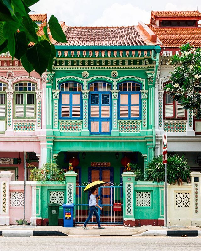 Painted Houses Singapore Southeast Asia