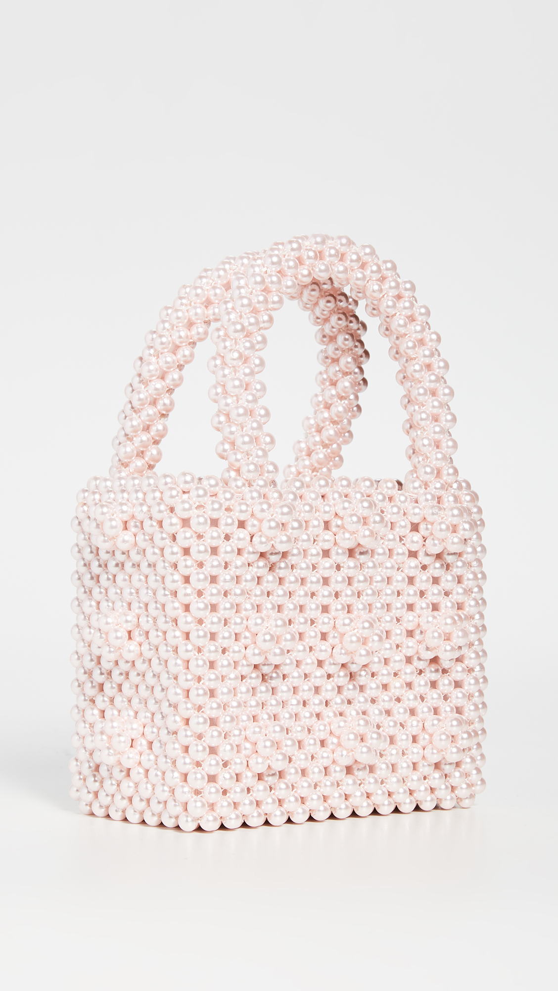 Pink Imitation Pearl Bag
