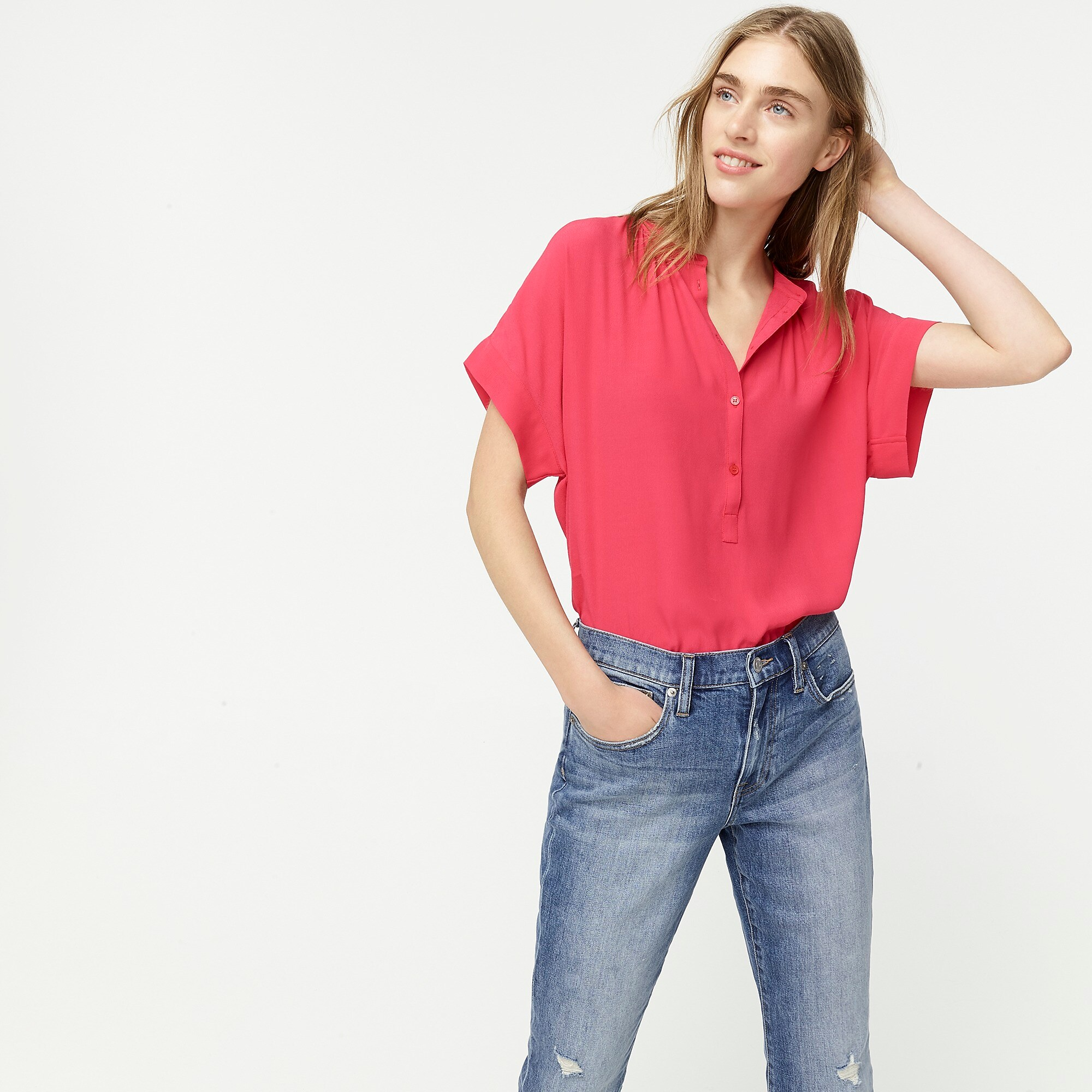 Pink Popover Shirt