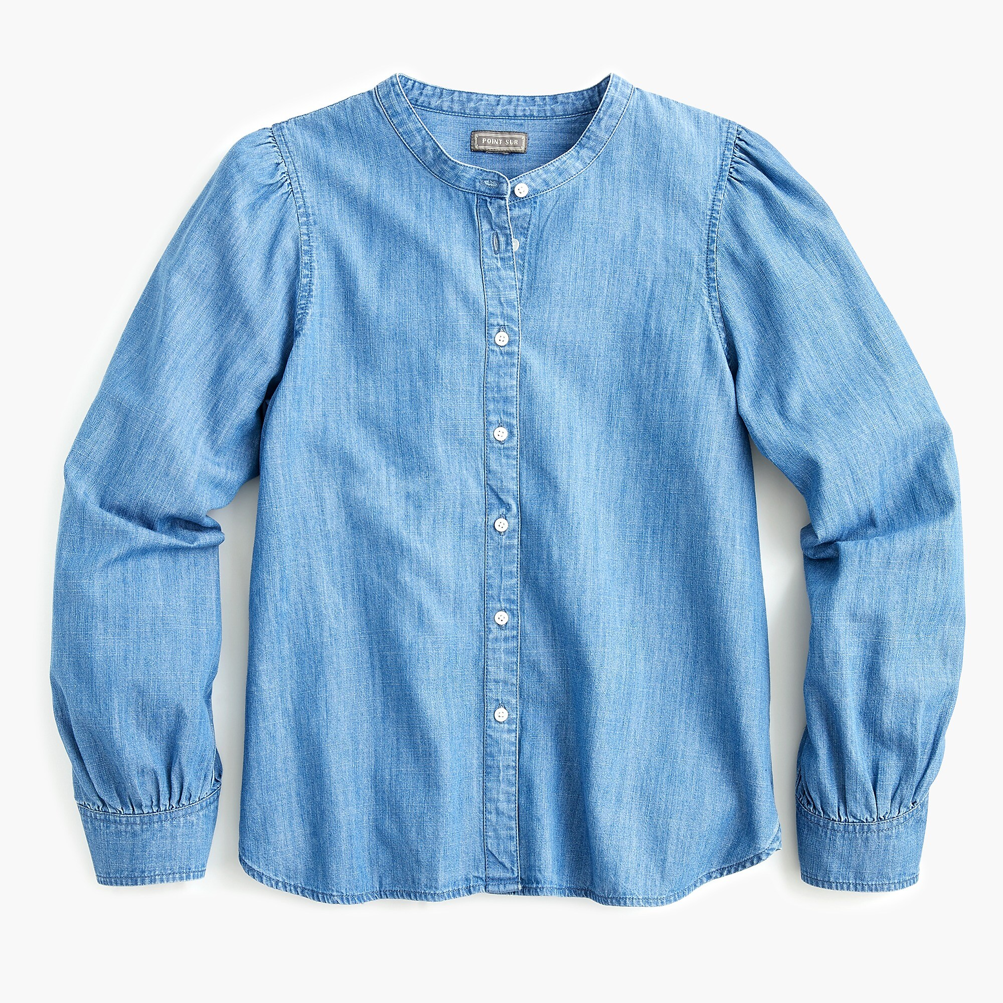 Puff Sleeve Chambray Top