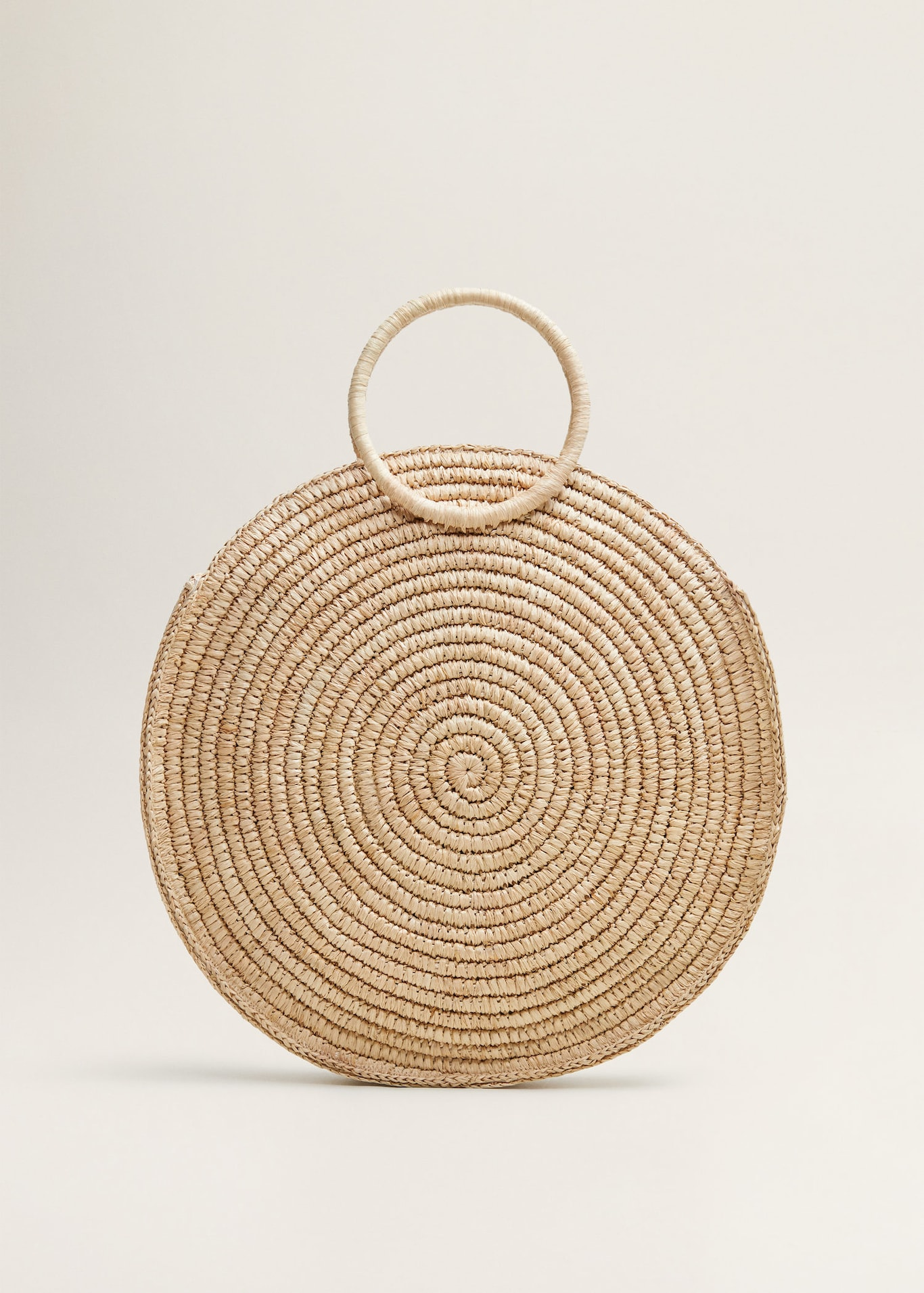 Large Round Raffia Purse