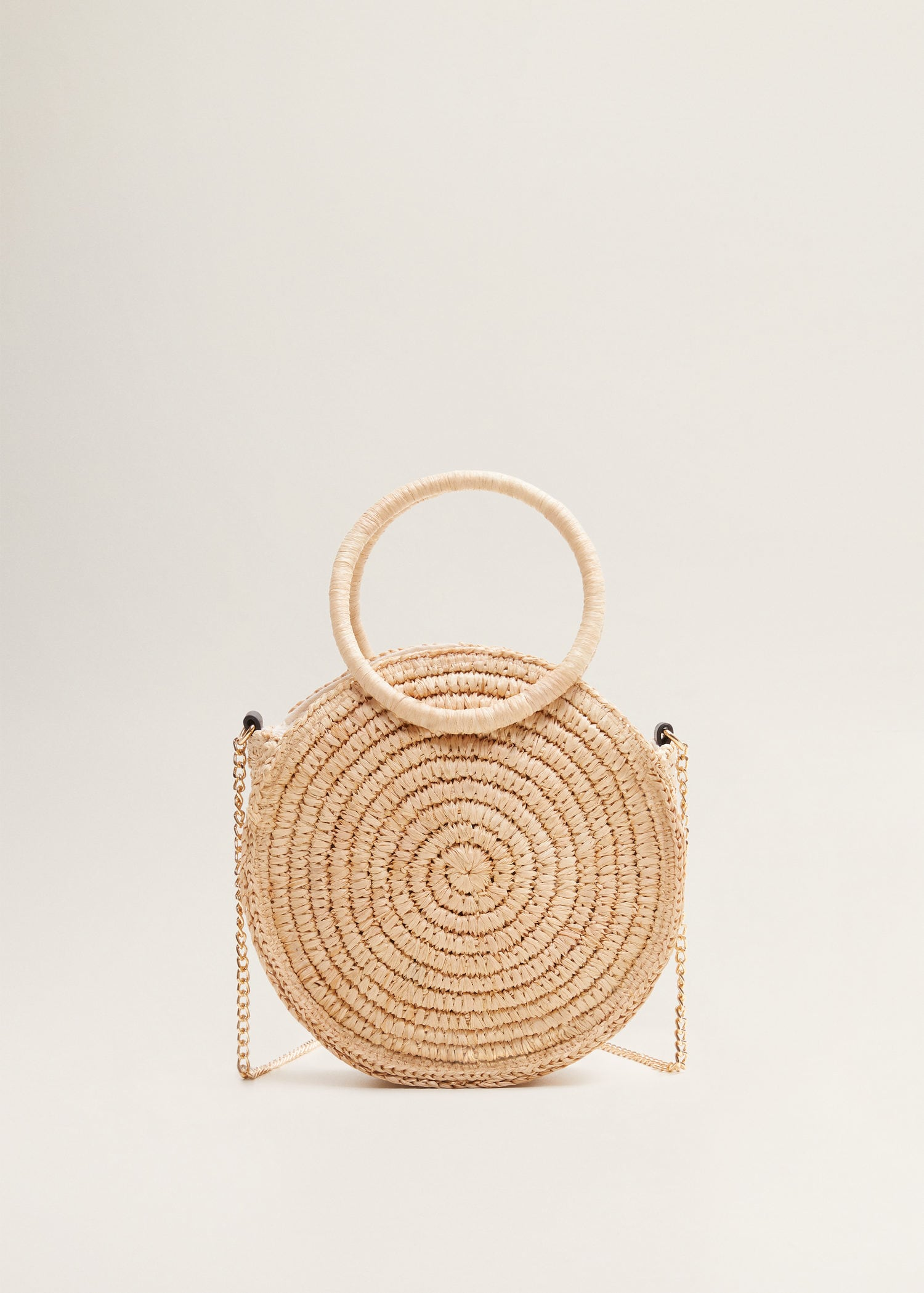 Small Round Raffia Purse