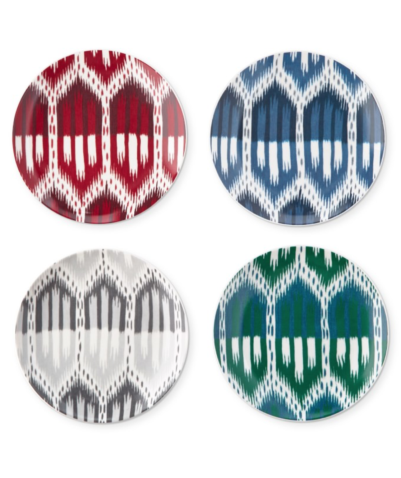 Ikat Inspired Plates