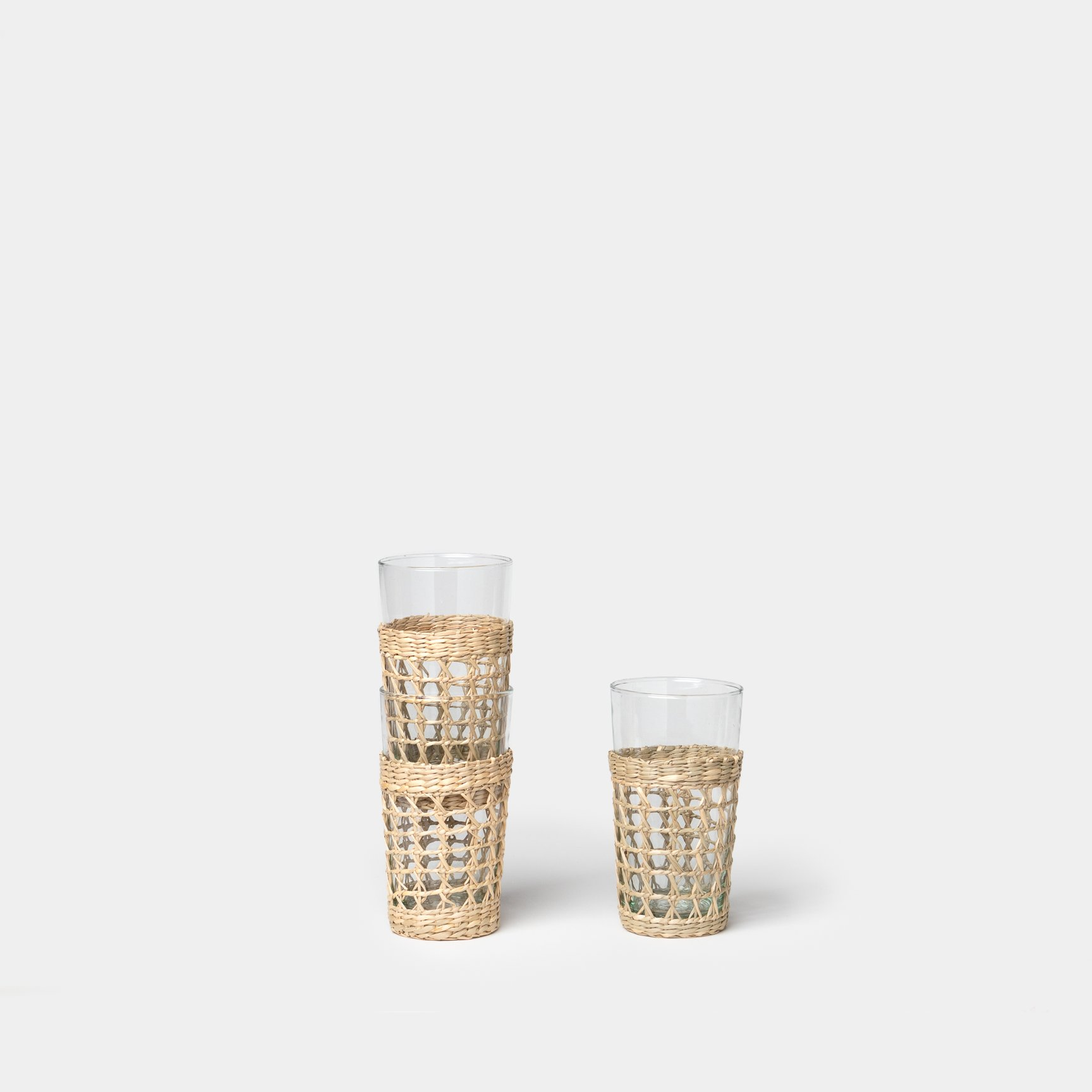 Seagrass Caged Highball Glass