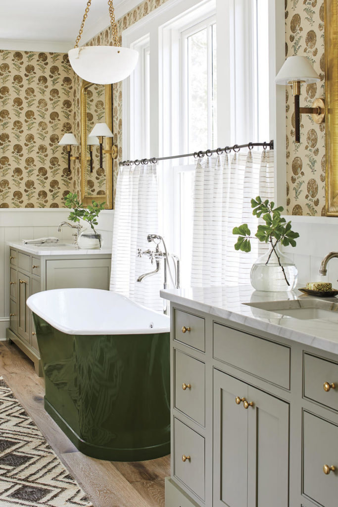 Cast Iron Bathtub Green Heather Chadduck Interiors Southern Living Idea House 2019