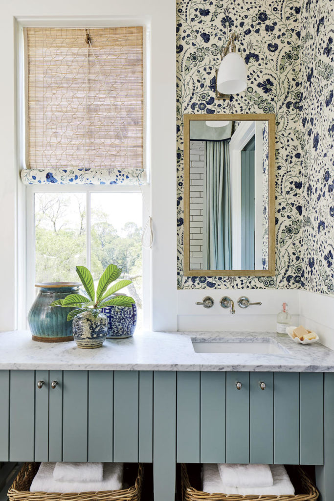 Bathroom Soane Britain Wallpaper Heather Chadduck Interiors Southern Living Idea House 2019