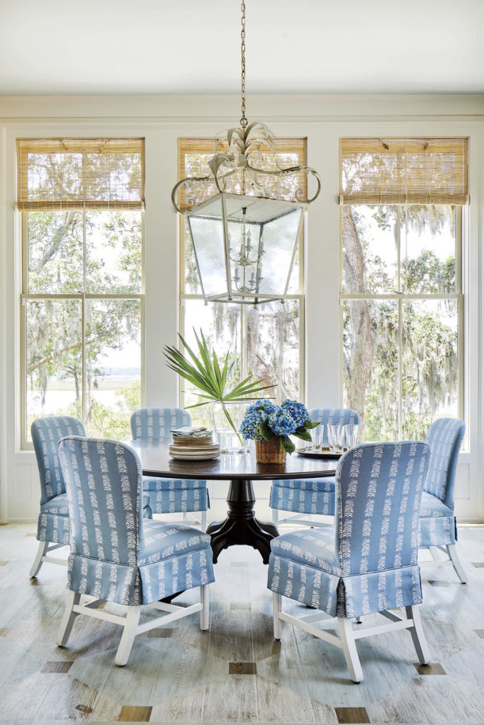 Dining Room Round Table Lantern Heather Chadduck Interiors Southern Living Idea House 2019