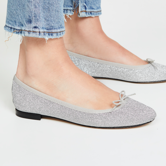 The Daily Hunt: Sparkly Silver Ballet Flats and more!