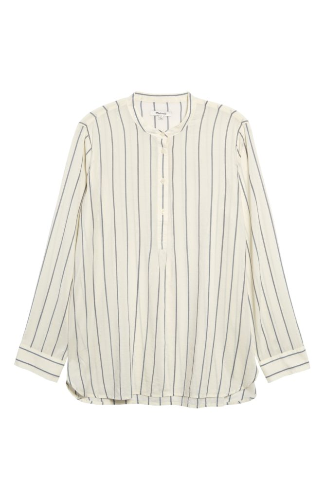 Striped Button Front Tunic