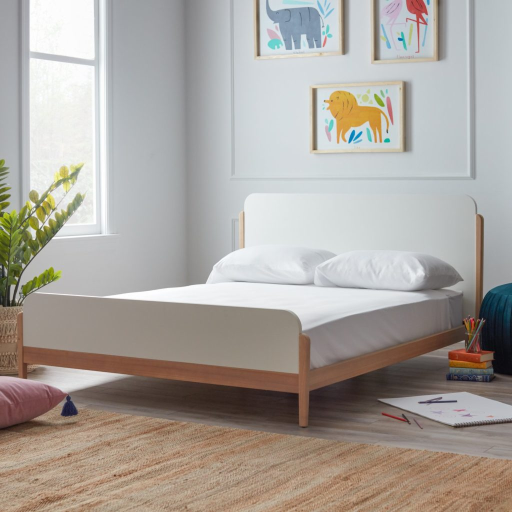 White Platform Bed Children's Room