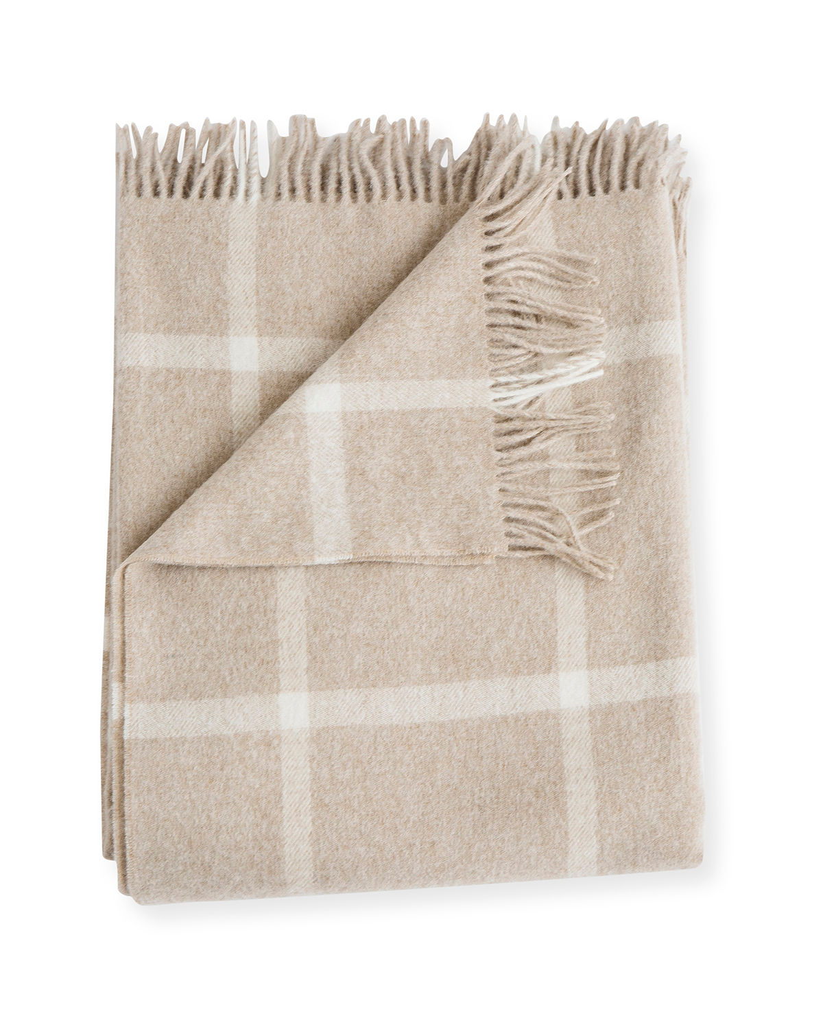 Windowpane Wool Throw