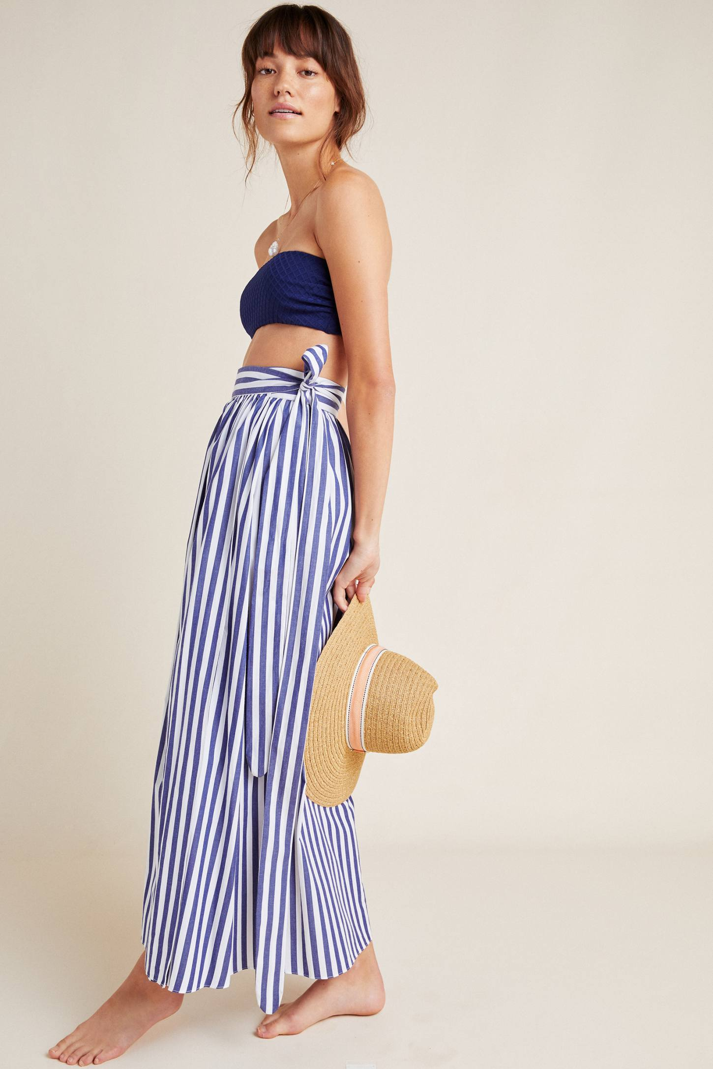Striped Mixi Skirt