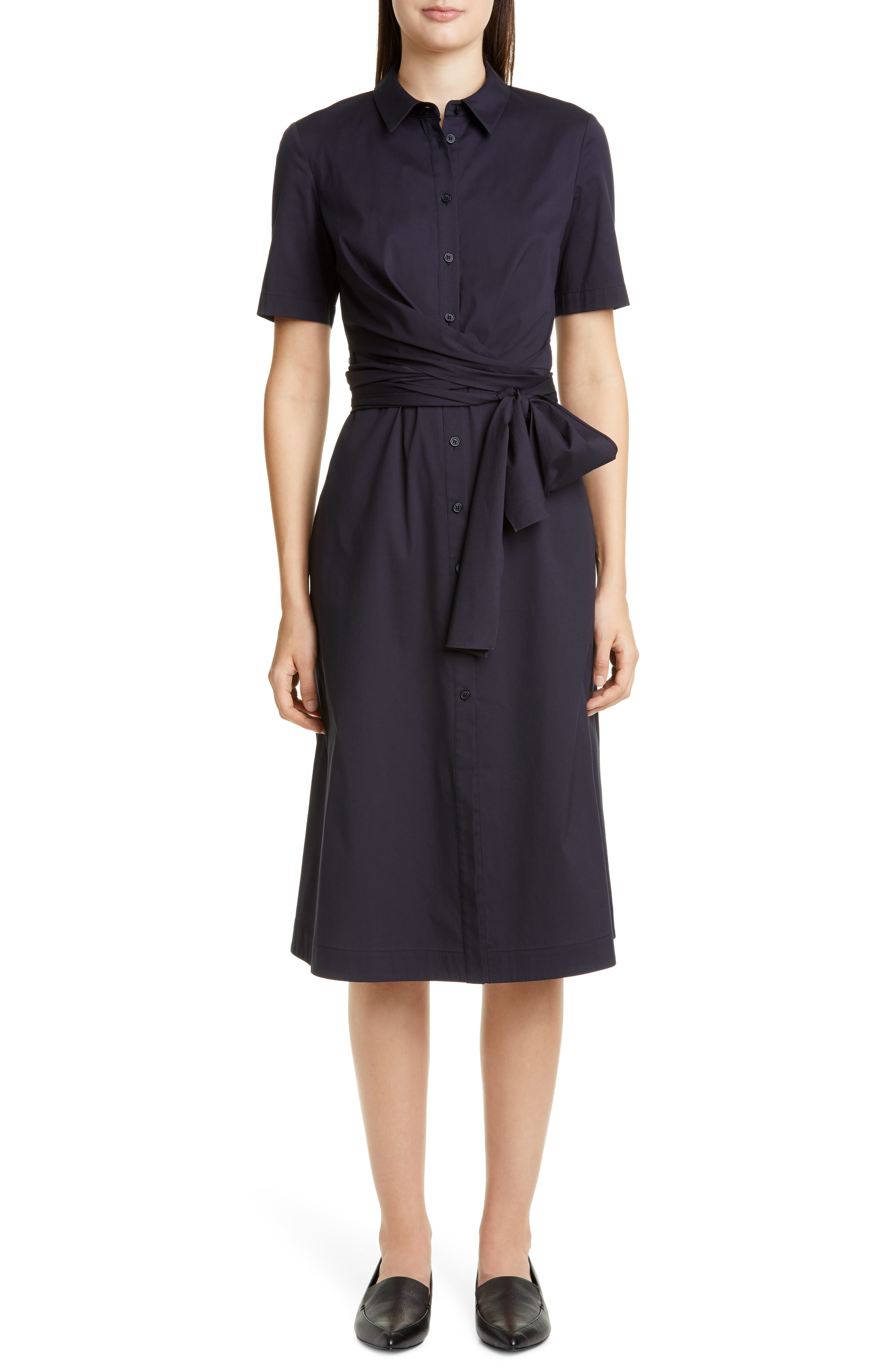 Tie Front Shirtdress