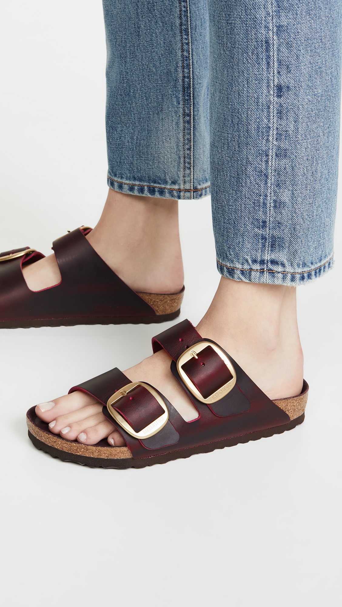 Big Buckle Birkenstock Slides
