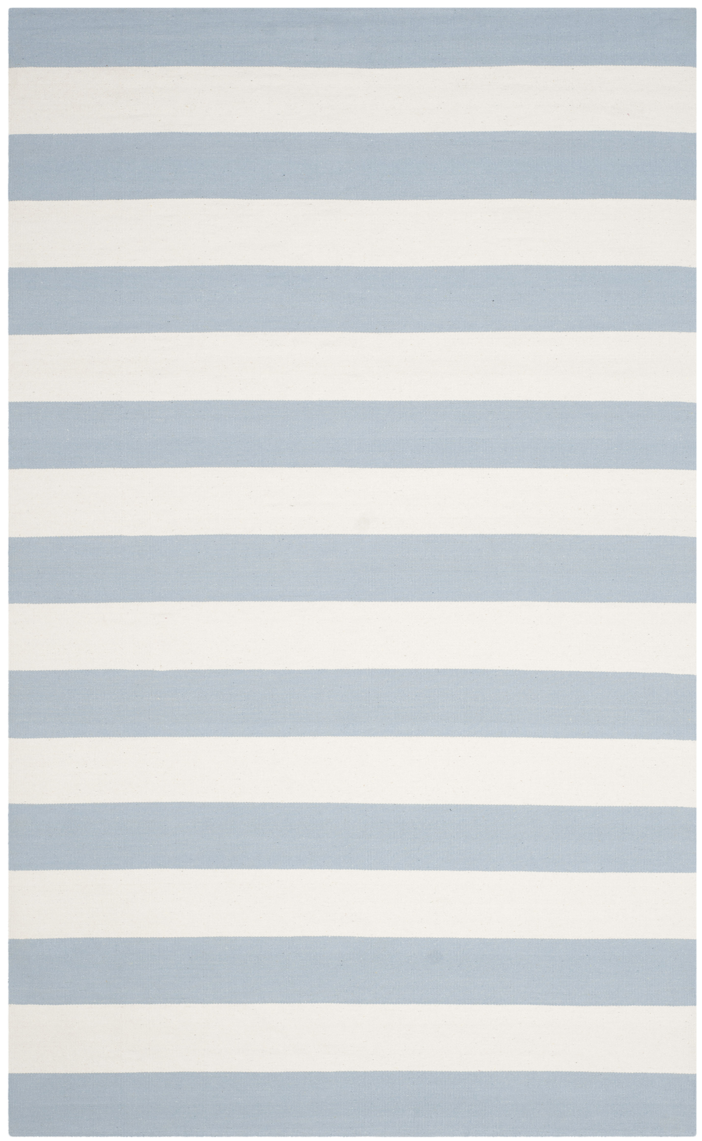 Image of: 5×8 Striped Blue White Area Rug Nautical Beach House Katie Considers