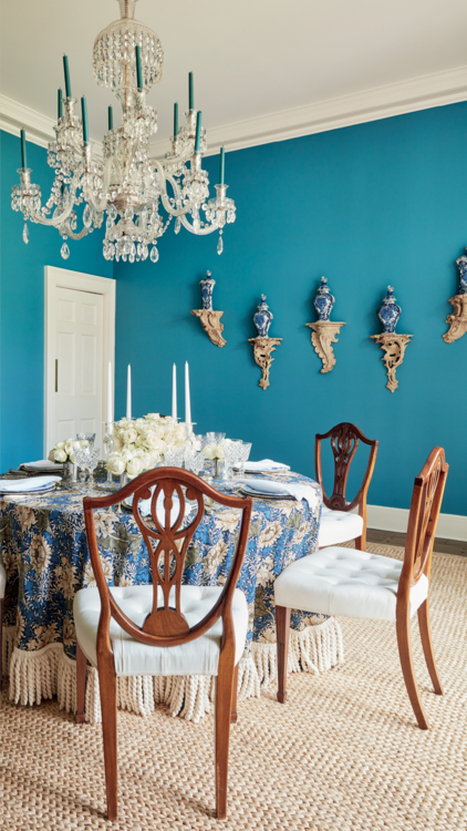 Aerin Lauder East Hampton Home Dining Room