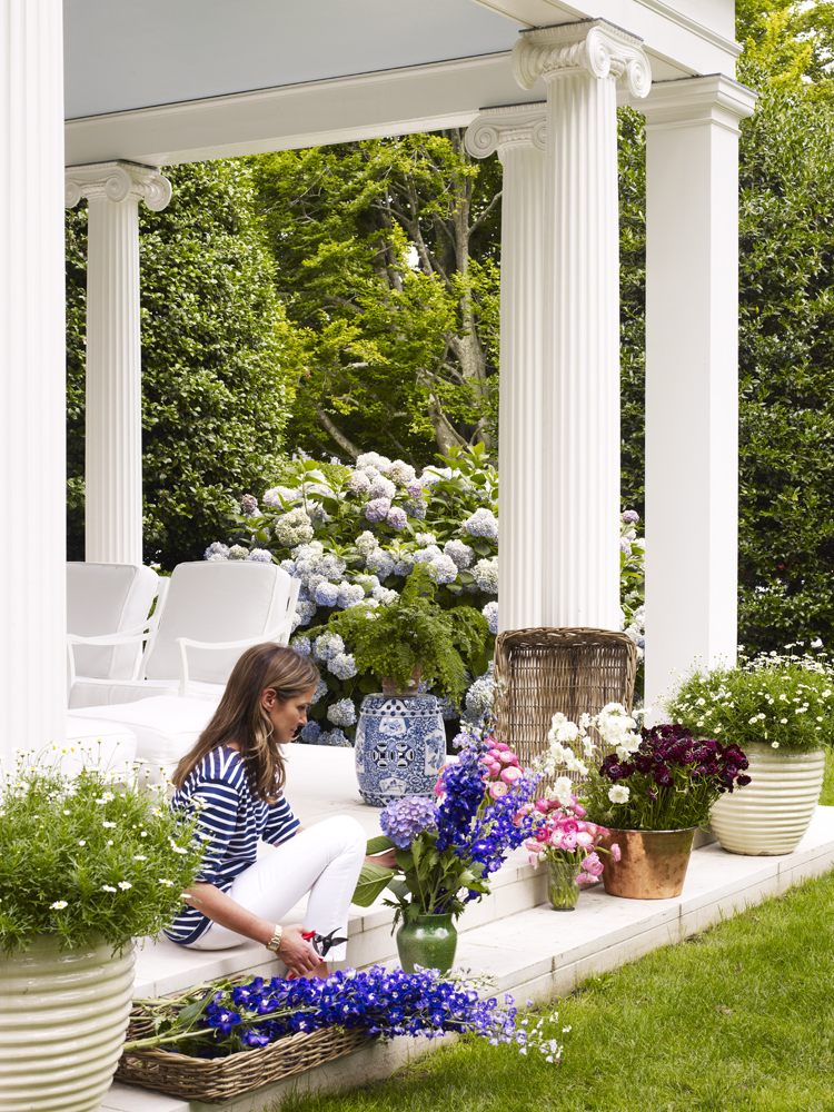 Aerin Lauder East Hampton Home Patio Columns