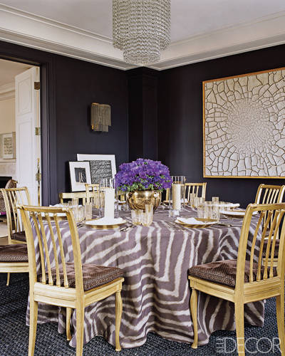 Aerin Lauder New York Apartment Dining Room Zebra Table