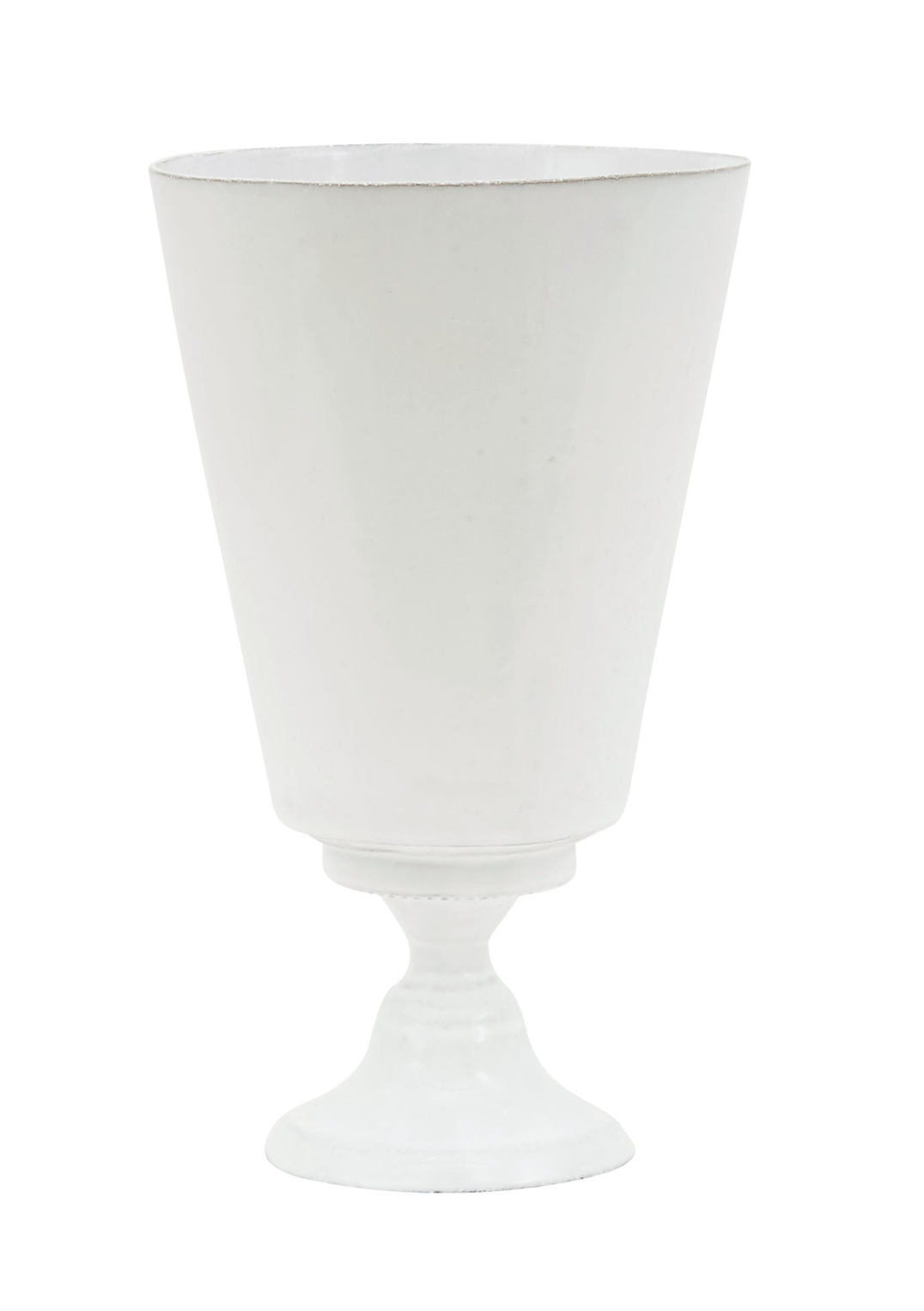 White Glazed Footed Vases