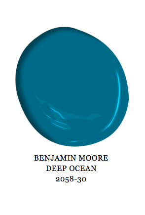 Benjamin Moore Deep Ocean Paint Color 2058-30 Blue