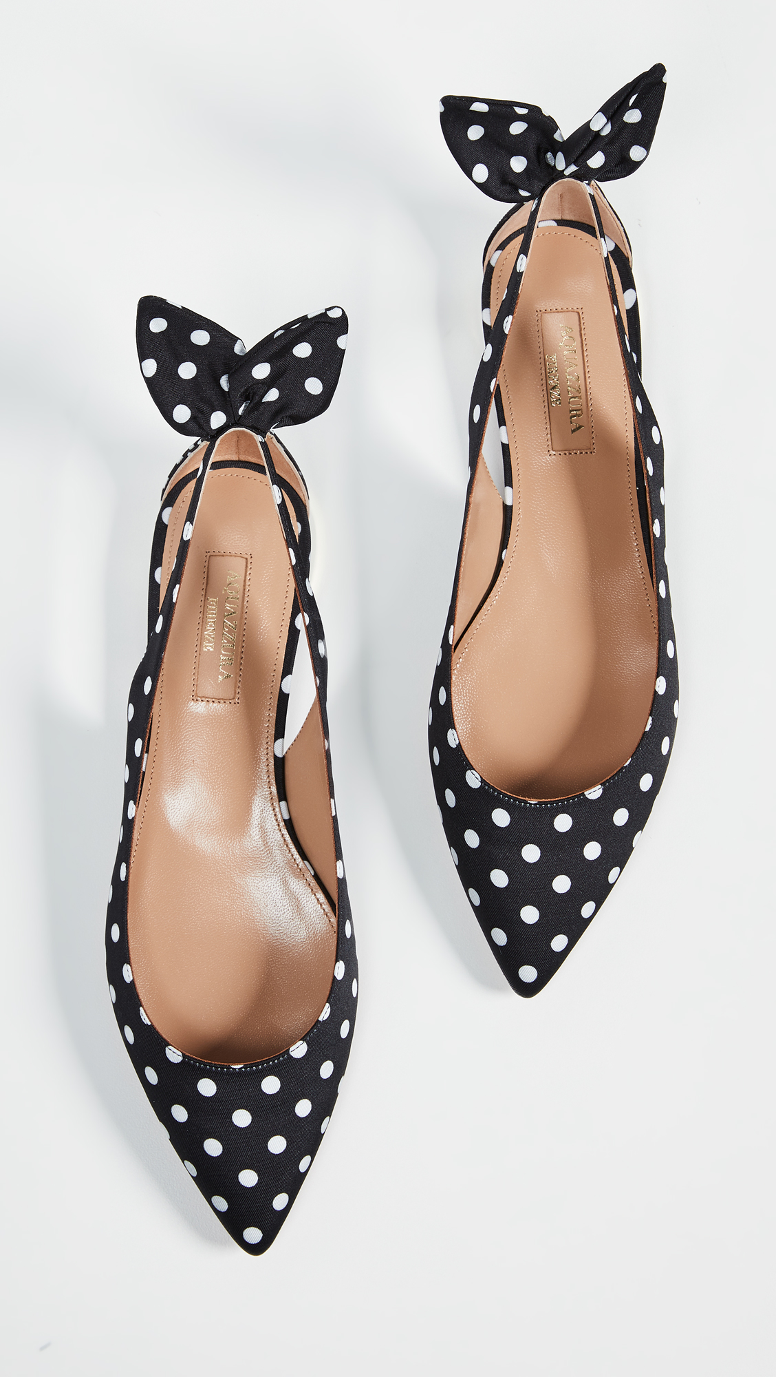 Black and White Polka Dot Flats