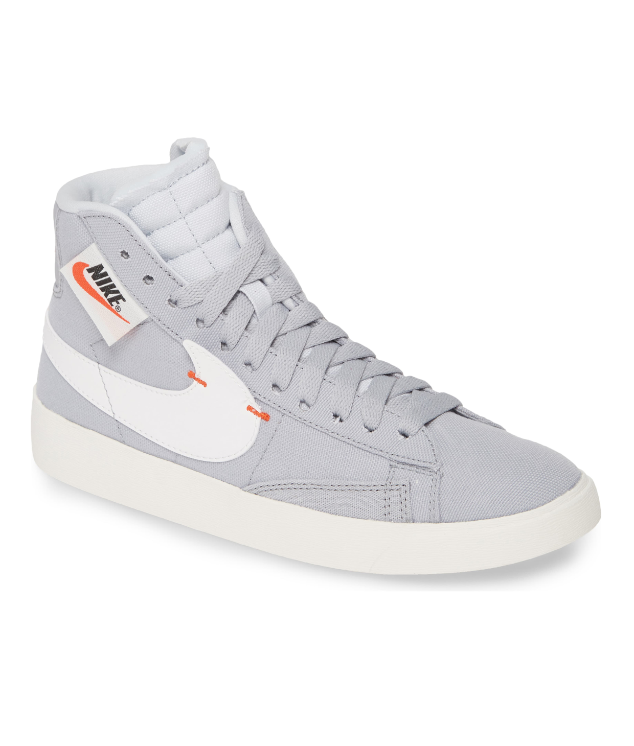 Gray and White High Top Sneaker