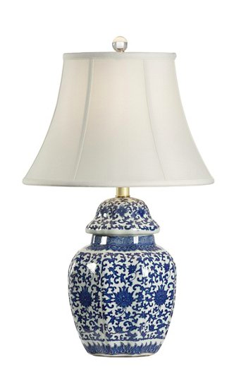 Blue and White Ginger Jar Chinese Table Lamp