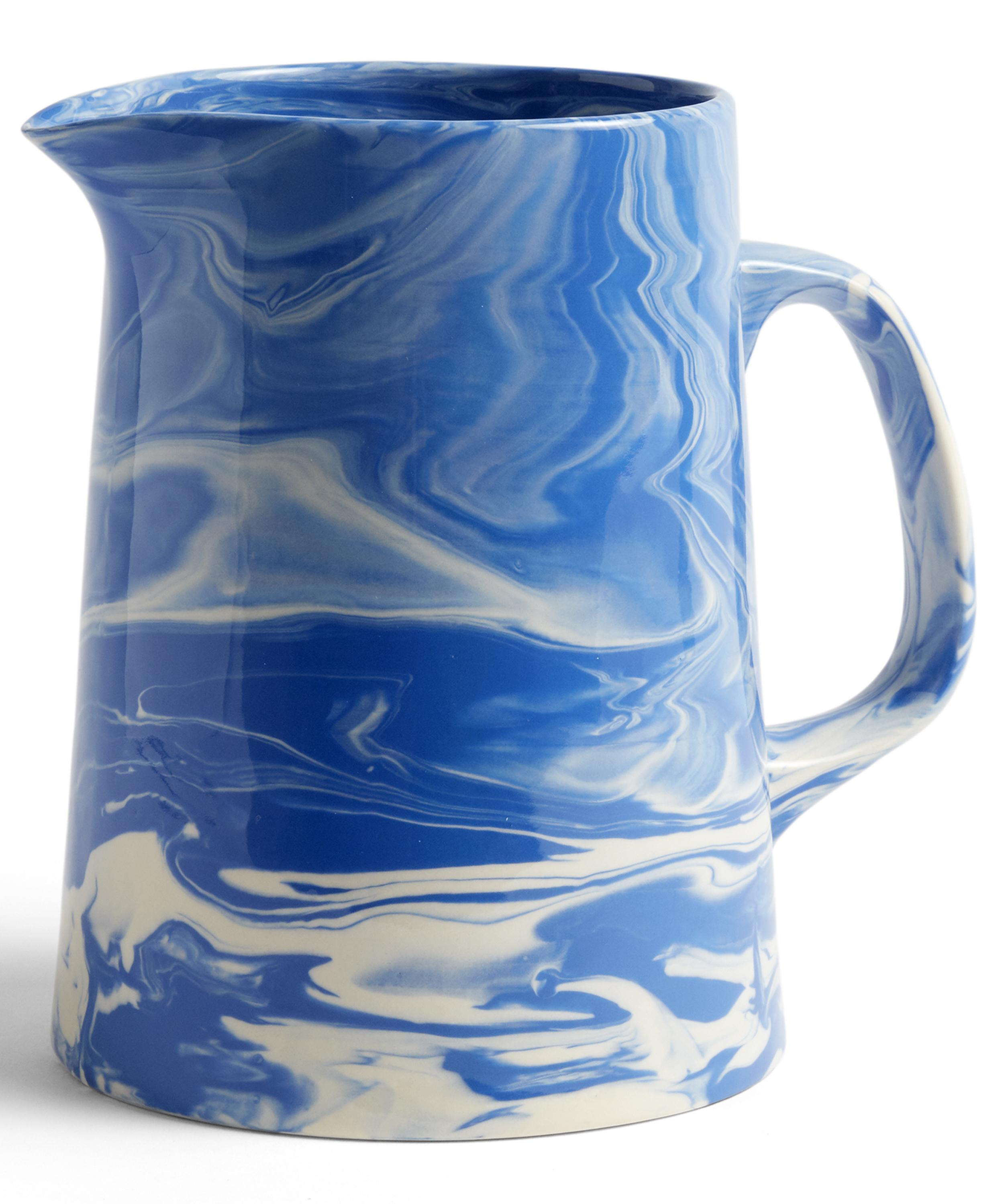 Blue and White Marbled Jug