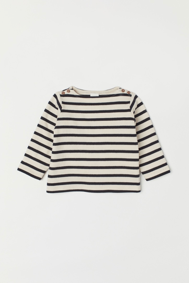 Baby Boat Neck Striped Top Breton Nautical